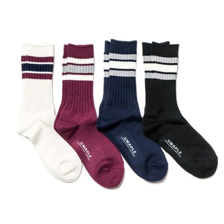 MAPLE Ribbed Line Sock 4 Pack