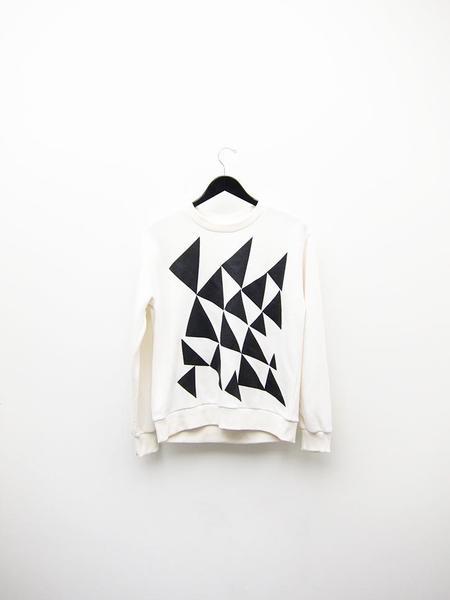 Correll Correll Triangles Sweatshirt - Natural