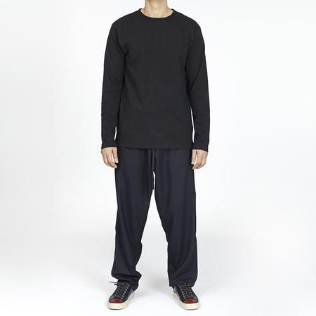 S.K. Manor Hill Roll-Neck Long Sleeve T-shirt - Black