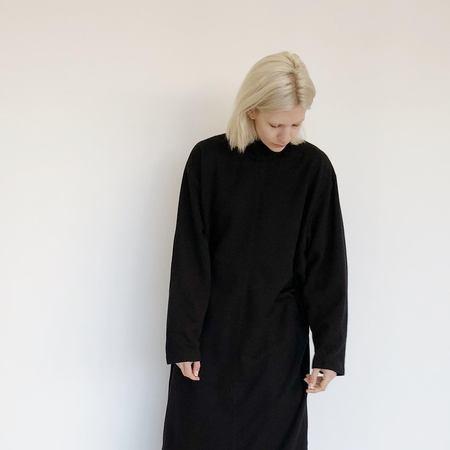 Johan Vintage Black Mockneck Dress