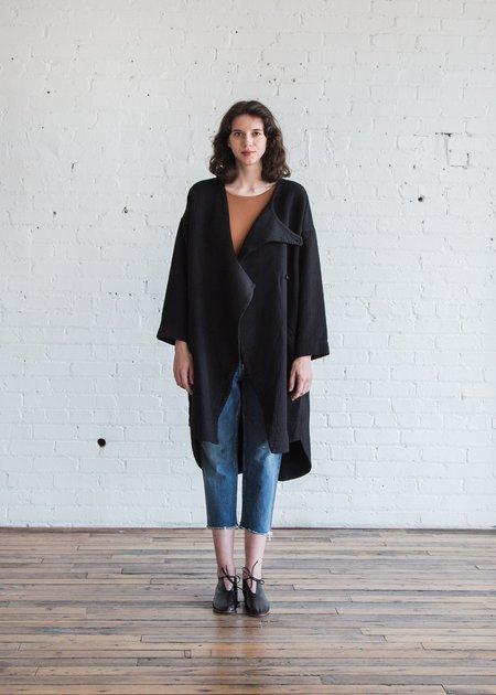 Black Crane Dual Canvas Coat - Black
