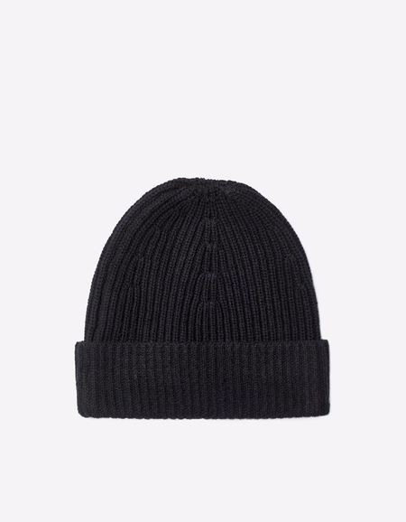 Filippa K Rib Knit Hat Black
