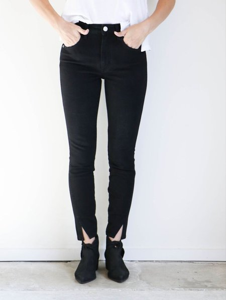Amo Denim High Rise Twist Jeans in Black Magic