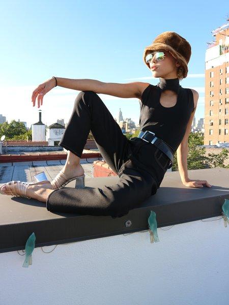 Nanushka Contrast Stitch Trousers - Black