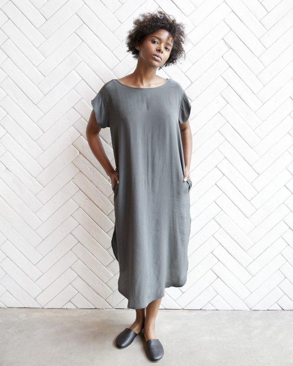 Esby Kate Silk Dress - Pine