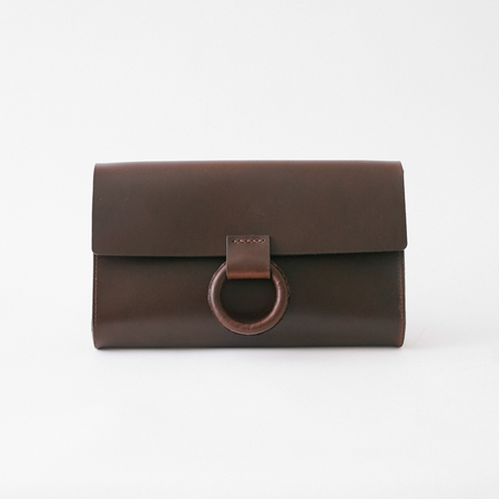 Crescioni Mono Clutch - Chocolate