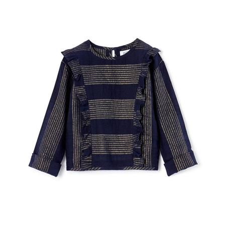Polder Girl Cassis Top - Gold/Navy Stripe
