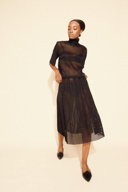 Kamperett Lise Stripe Skirt in Kamperett Lise Stripe Skirt - Black