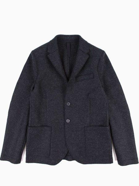 Harris Wharf Two Button Blazer Pressed Wool - Anthracite
