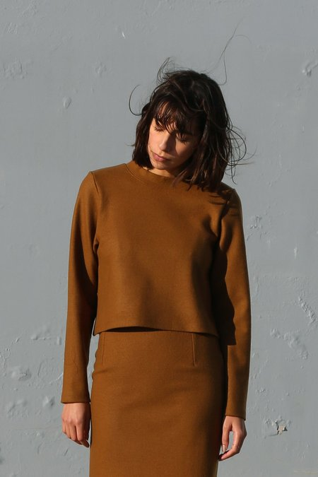 Waltz Wool Jersey Pullover in Camel