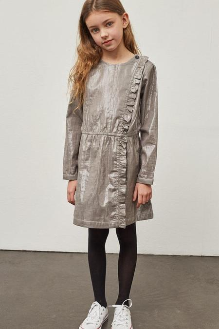 Polder Girl Celia Lurex Dress - Silver