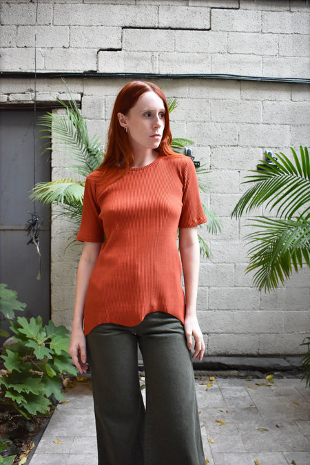 Delfina Balda Malia Knit Top in Orange