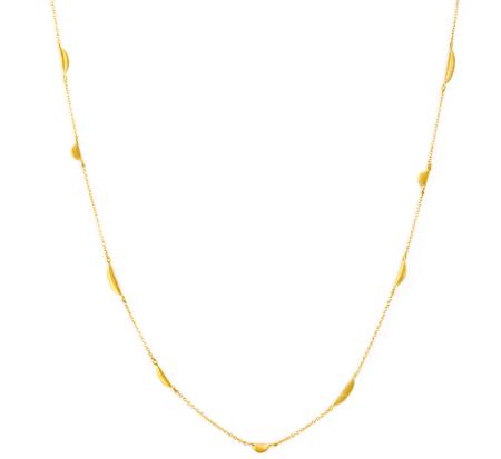 Satomi Kawakita N4902 18K Spaced Crescent Necklace