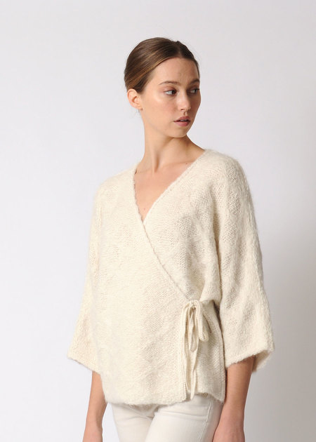 Wol Hide Quilted Wrap Sweater