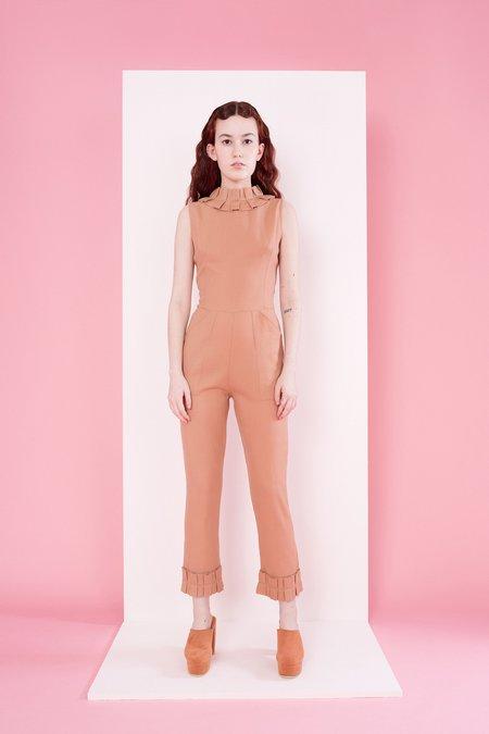 Samantha Pleet Tudor Jumpsuit - Blush