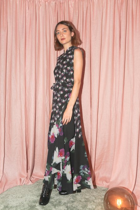 Rodebjer Damiana Dress in Black Night Orchid