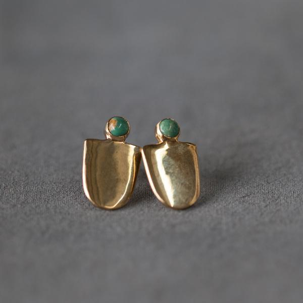Seaworthy Mujer Earrings in Brass with Turquoise