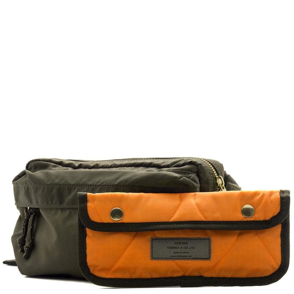94686becd12 ... Porter Force 2 Way Waist Bag - Olive Garmentory super popular fbd0d  7f5d5 ...
