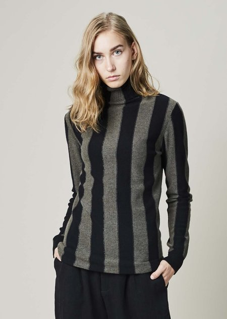 Aleksandr Manamis Striped Long Turtleneck