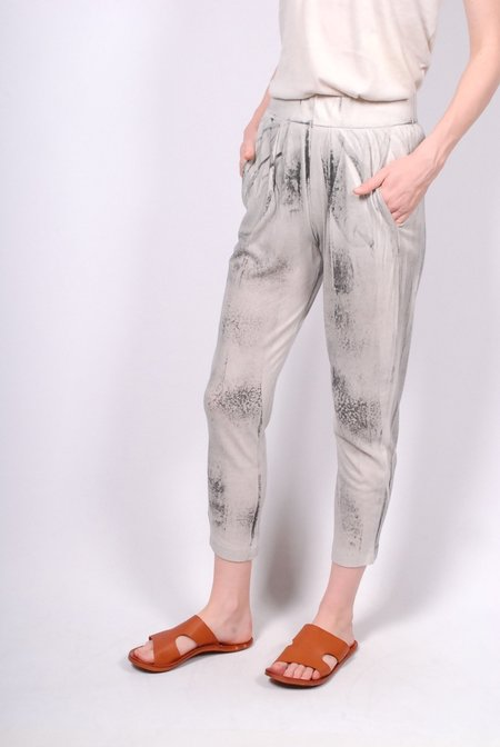 Raquel Allegra Jersey Easy Pant - Tie Dye Dirty White