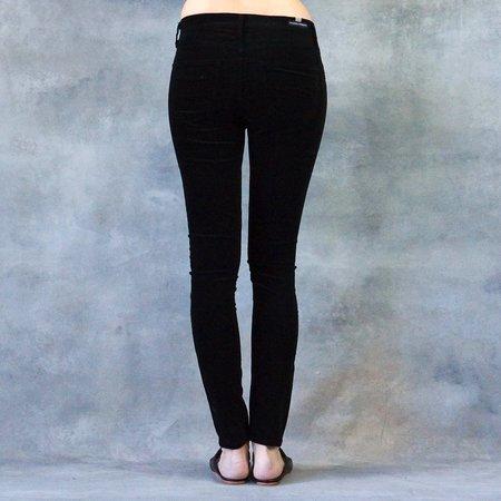 Citizens of Humanity Black Velveteen Rocket High Rise Skinny Pants