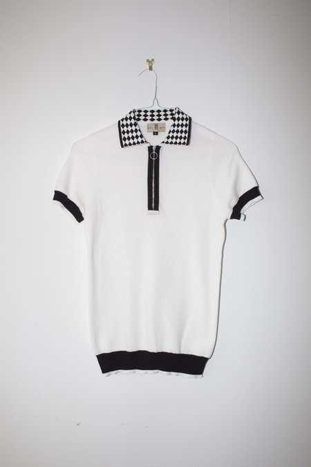 Unisex Giu Giu Bocce Polo in Black & White