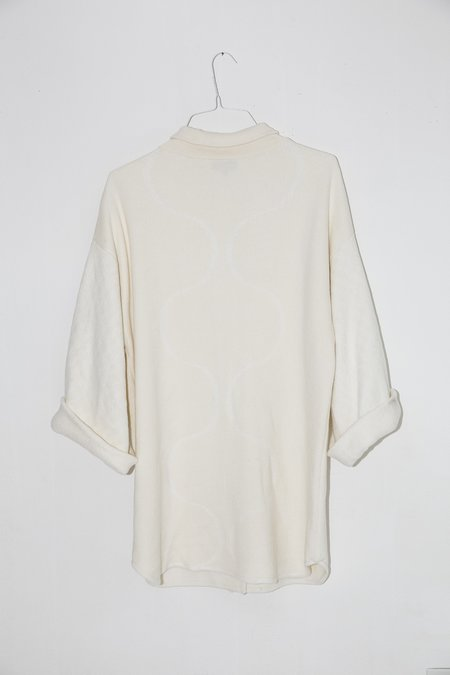 Giu Giu Lab Coat in Tonal Jacquard