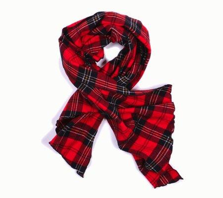 Engineered Garments Long Scarf - Red/Black Plaid Flannel