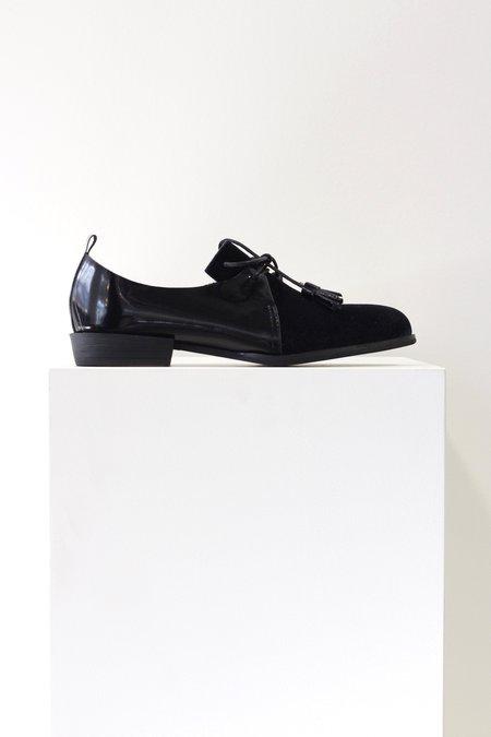 All Black Sir Velvet Loafer
