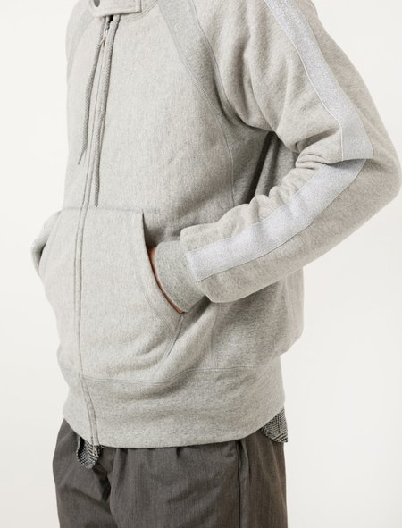 Engineered Garments Raglan Zip Hoody - Grey 20oz