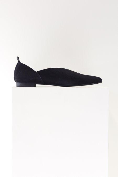 All Black Hi Cut Slip On Loafer
