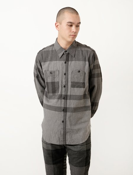 Engineered Garments Work Shirt - Grey Big Plaid