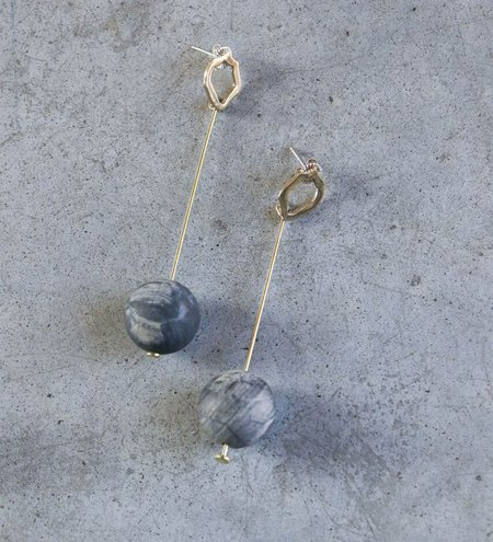 Modern Weaving Matte Jasper Sphere Earrings