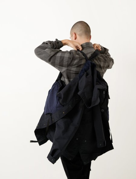 Engineered Garments Highland Parka - Navy Cotton Double Cloth