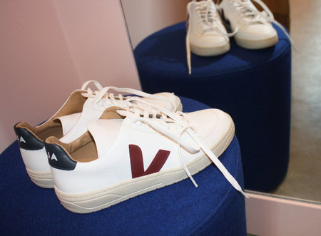 Veja Bastille Leather Marsala Sneaker in Nautico