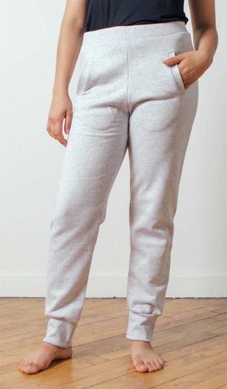 The White Briefs Canadian Fleece Sweatpants in Grey