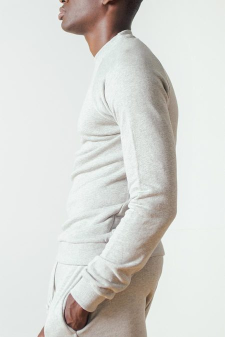 The White Briefs Champion Sweatshirt in Grey Melange
