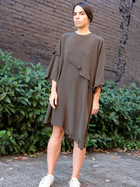 Correll Correll Rococo Dress in Olive