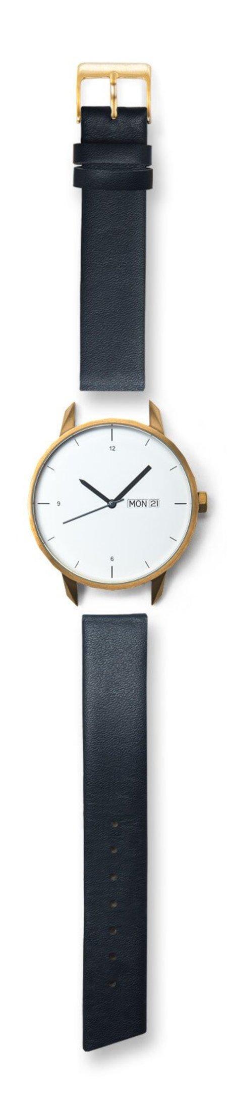 Unisex Tinker Watches 42mm Gold Watch Navy Strap