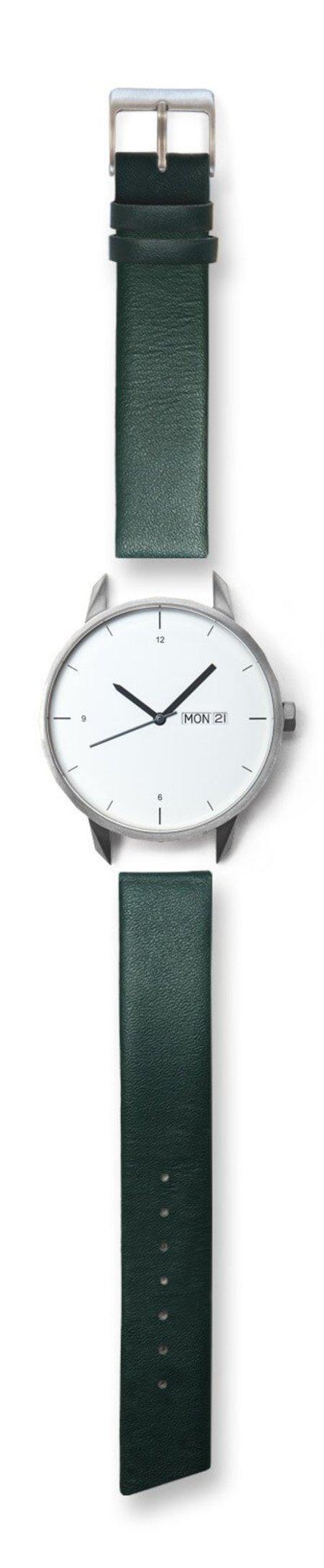 Unisex Tinker Watches 42mm Silver Watch Green Strap
