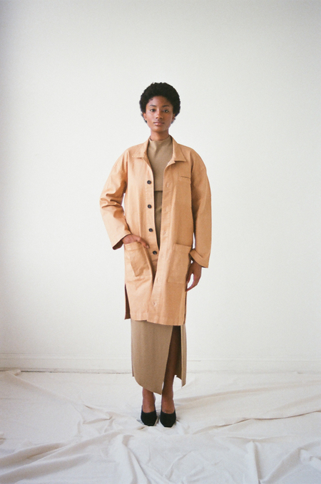 Pari Desai Reed Mid - Length Coat