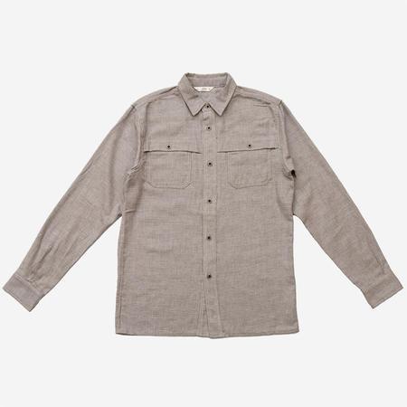 3Sixteen Hunting Shirt - Grey Herringbone Flannel