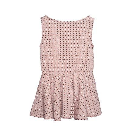 Kids Telegraph Ave Fit & Flare Dress - Rose Polkadot Chablis