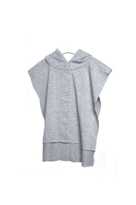 Kids Telegraph Ave Hooded Poncho - Gray French Terry