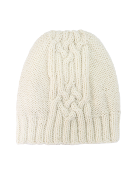 Kordal Cable Knit Hat - Cream