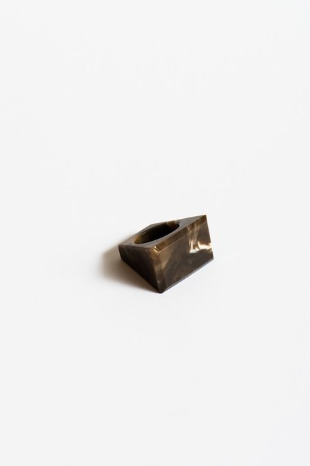 Kathleen Whitaker Rock Ring in Petrified Wood