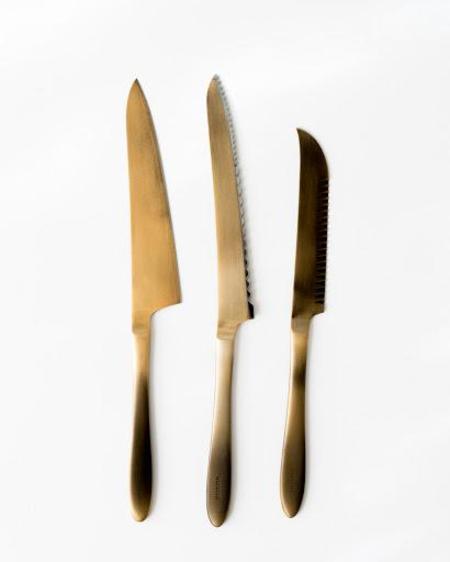 Saikai Pomme Gold Plated Knives