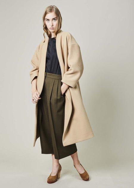 Ter et Bantine Buttonless Wool Coat