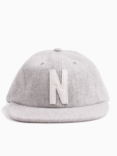 Norse Projects Norse Wool Cap - Light Grey Melange