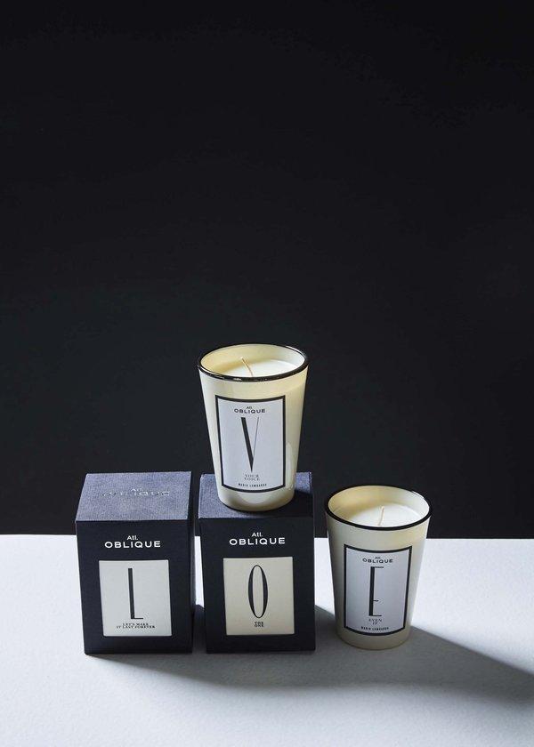 Atelier Oblique Alphabet Collection Candle